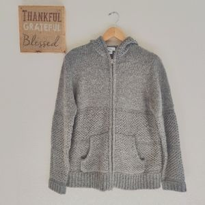 HP🎉 Mimi Maternity 💜 Wool Blend Hooded Sweater